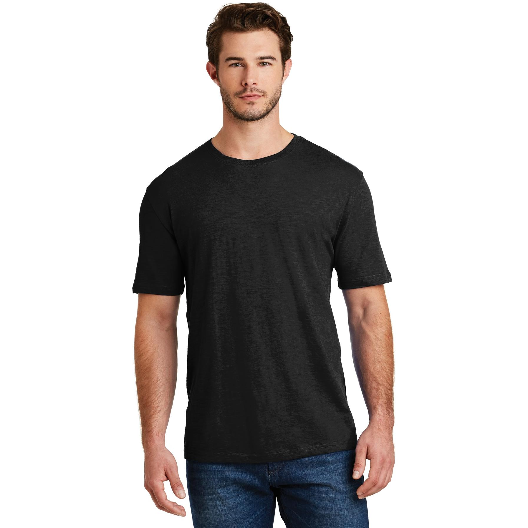 District made dm3000 men 39 s super slub crew tee black for Model black t shirt