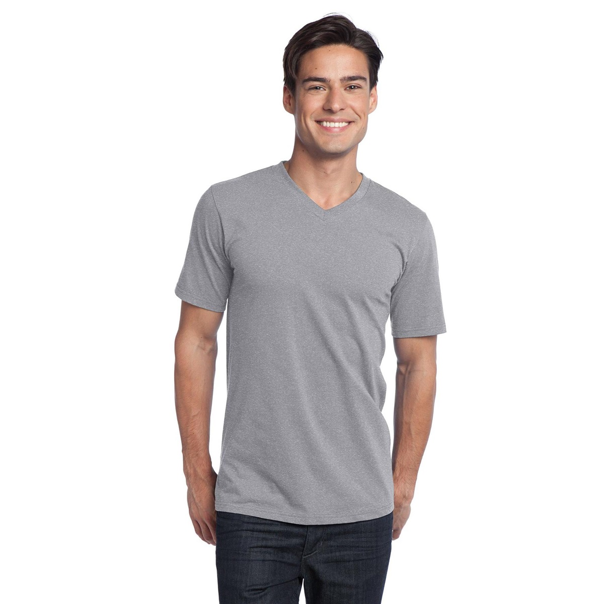 seven casual adult brand heather grey yellow