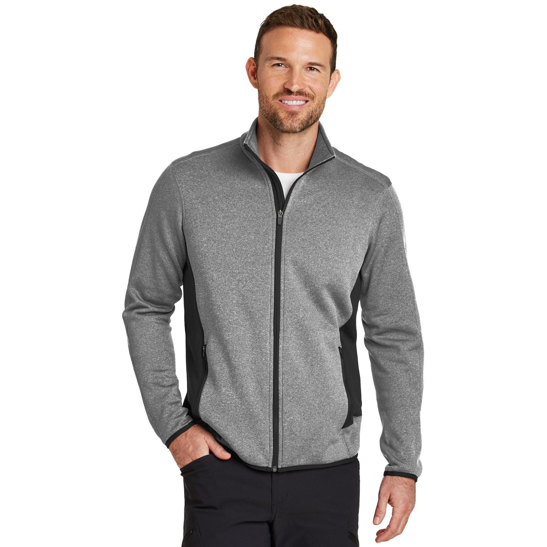 bauer eddie jacket fleece heather zip grey stretch chart fullsource eb