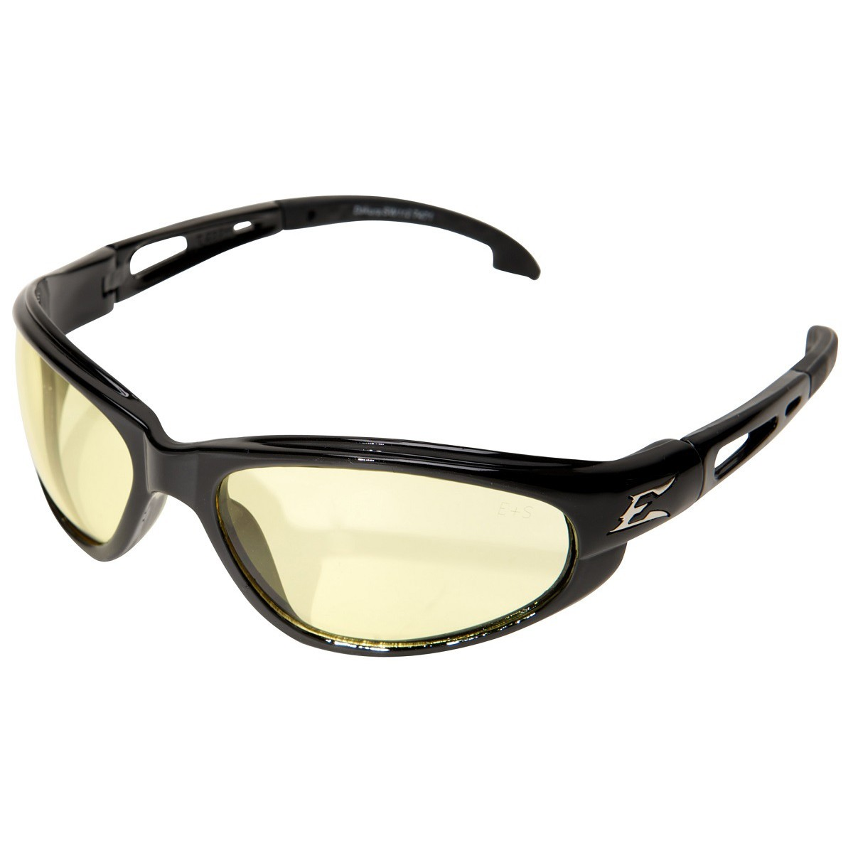 Edge SW112 Dakura Safety Glasses - Black Frame - Yellow ...