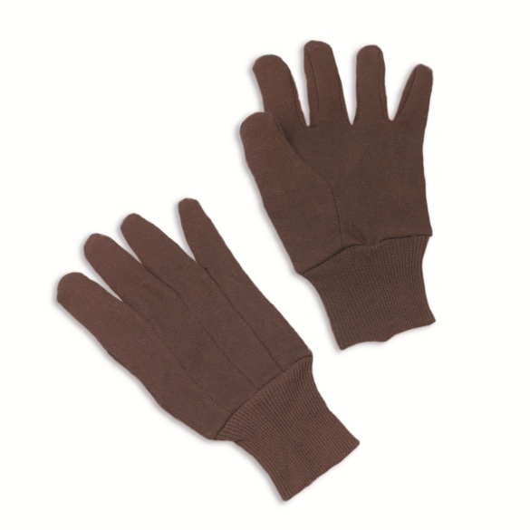 Erb 14430 Brown 100 Cotton Jersey Work Gloves