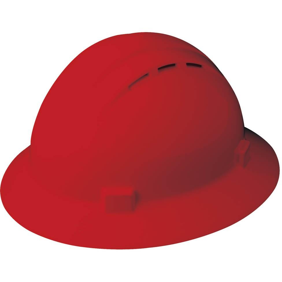 Erb 19334 Americana Vented Full Brim Hard Hat 4 Point