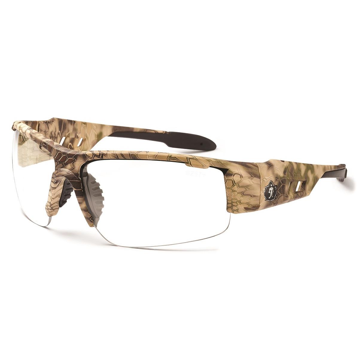 Ergodyne dagr 52300 safety glasses camo frame clear for 52300