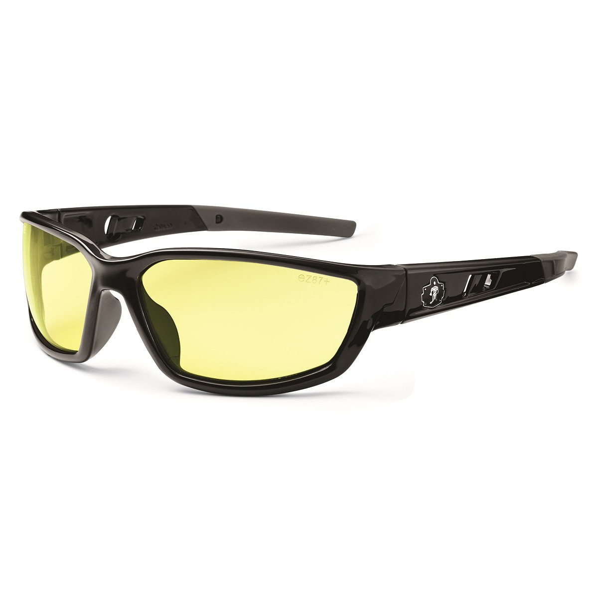 Ergodyne Kvasir 53050 Safety Glasses - Black Frame ...