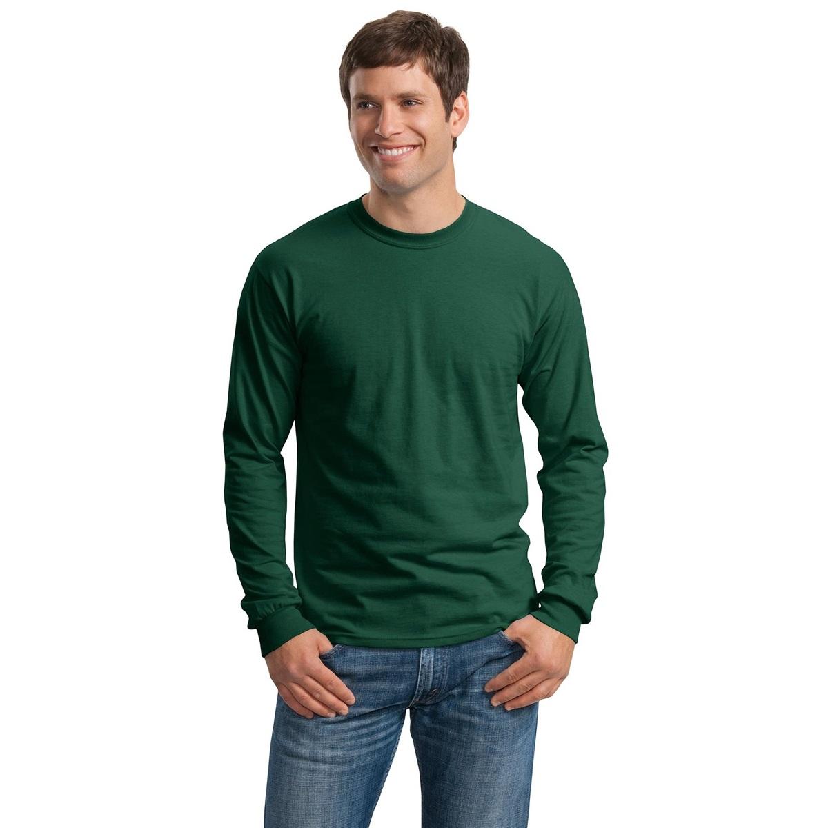 Gildan g2400 ultra cotton long sleeve t shirt forest for Long sleeve cotton tee shirts