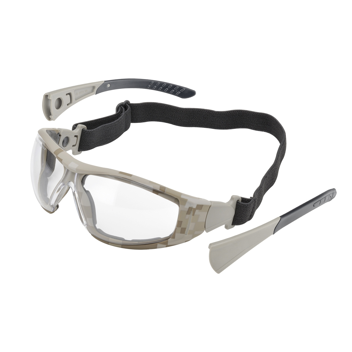 elvex go specs ii safety glassesgoggles camo frame clear anti fog lens