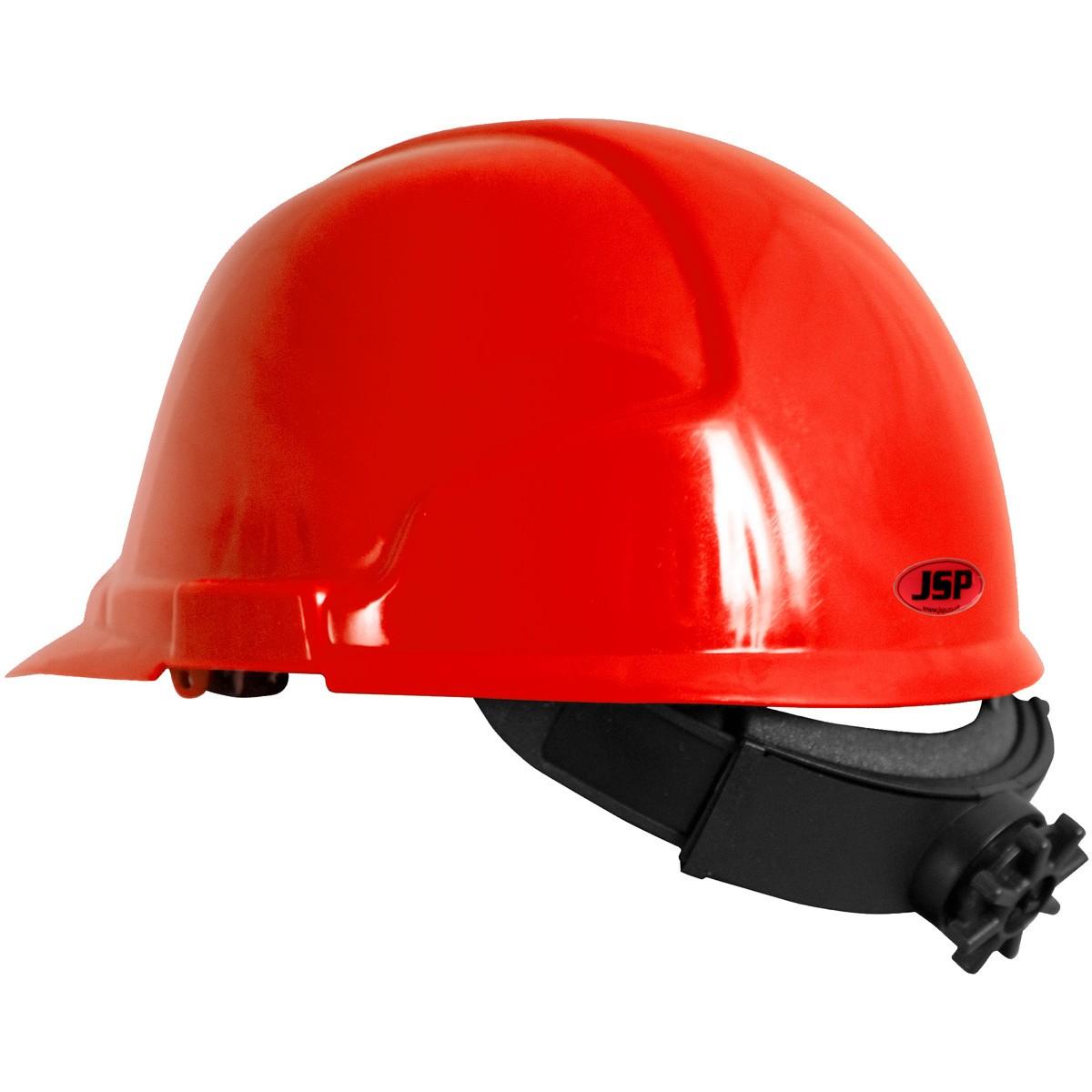 jsp comfort plus 5151 hard hat ratchet suspension red. Black Bedroom Furniture Sets. Home Design Ideas