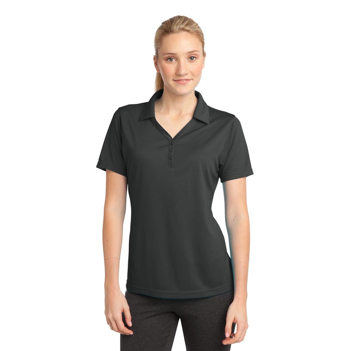 Sport Tek Lst680 Ladies Posicharge Micro Mesh Polo Shirt