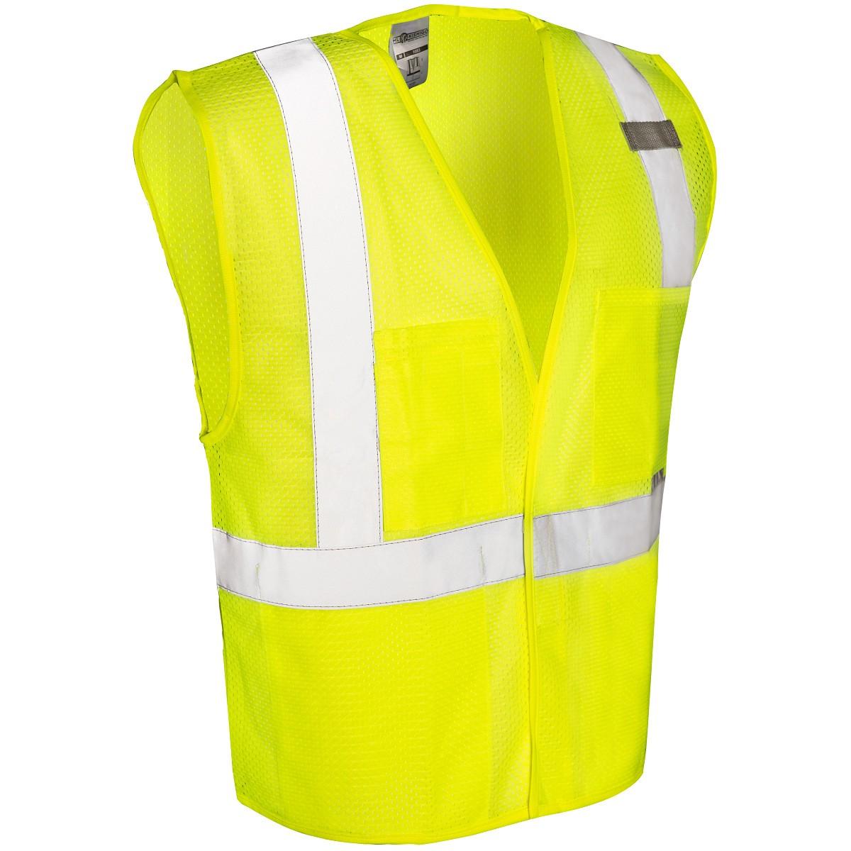 Ml kishigo 1083 velcro front 4 pocket safety vest yellow for 1083 3
