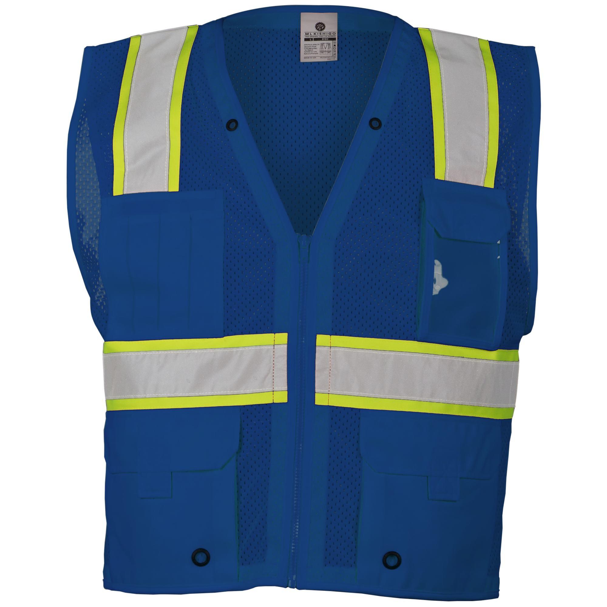 Ml Kishigo B102 Enhanced Visibility Multi Pocket Mesh Vest