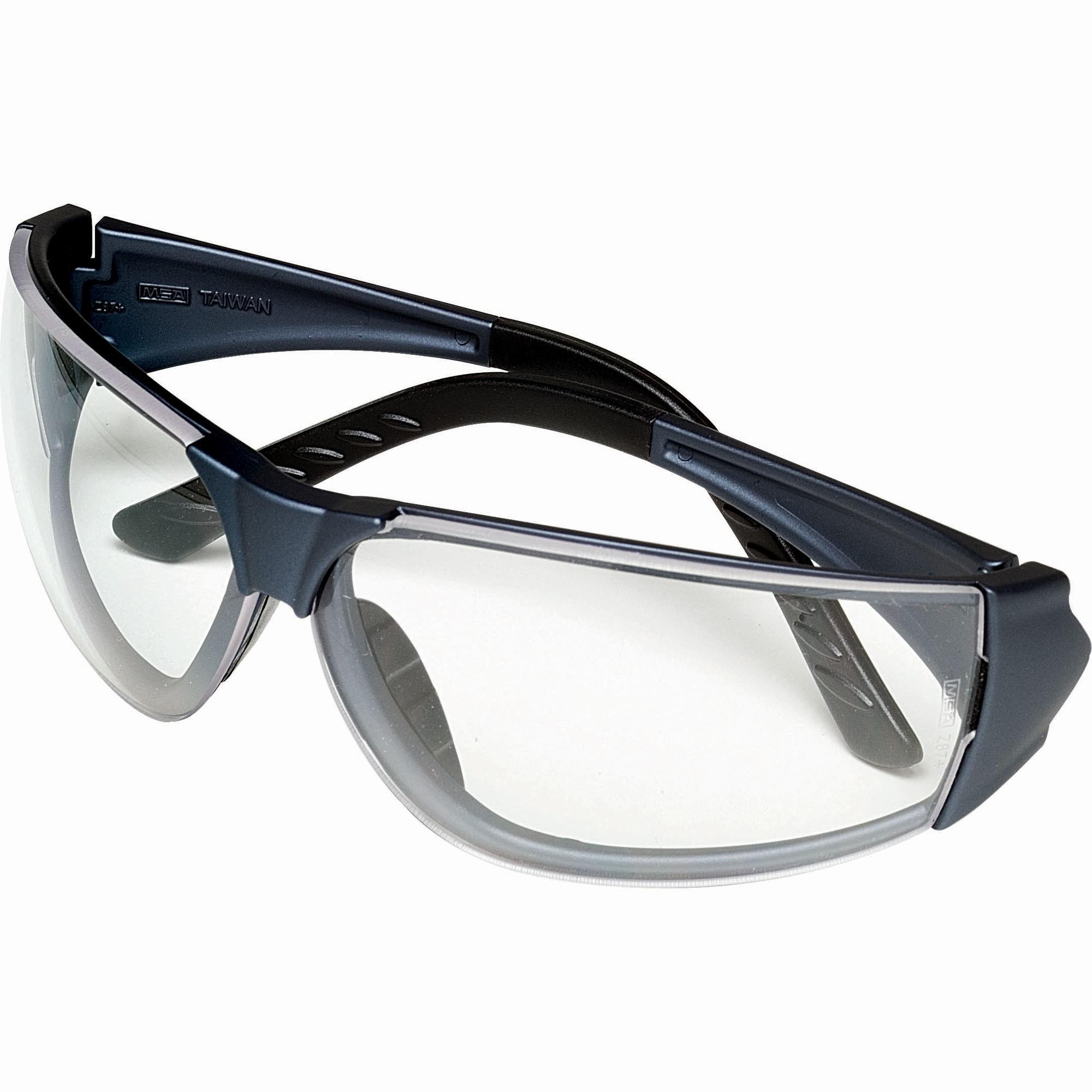 MSA 10070917 Easy-Flex Safety Glasses - Gray Frame - Clear ...