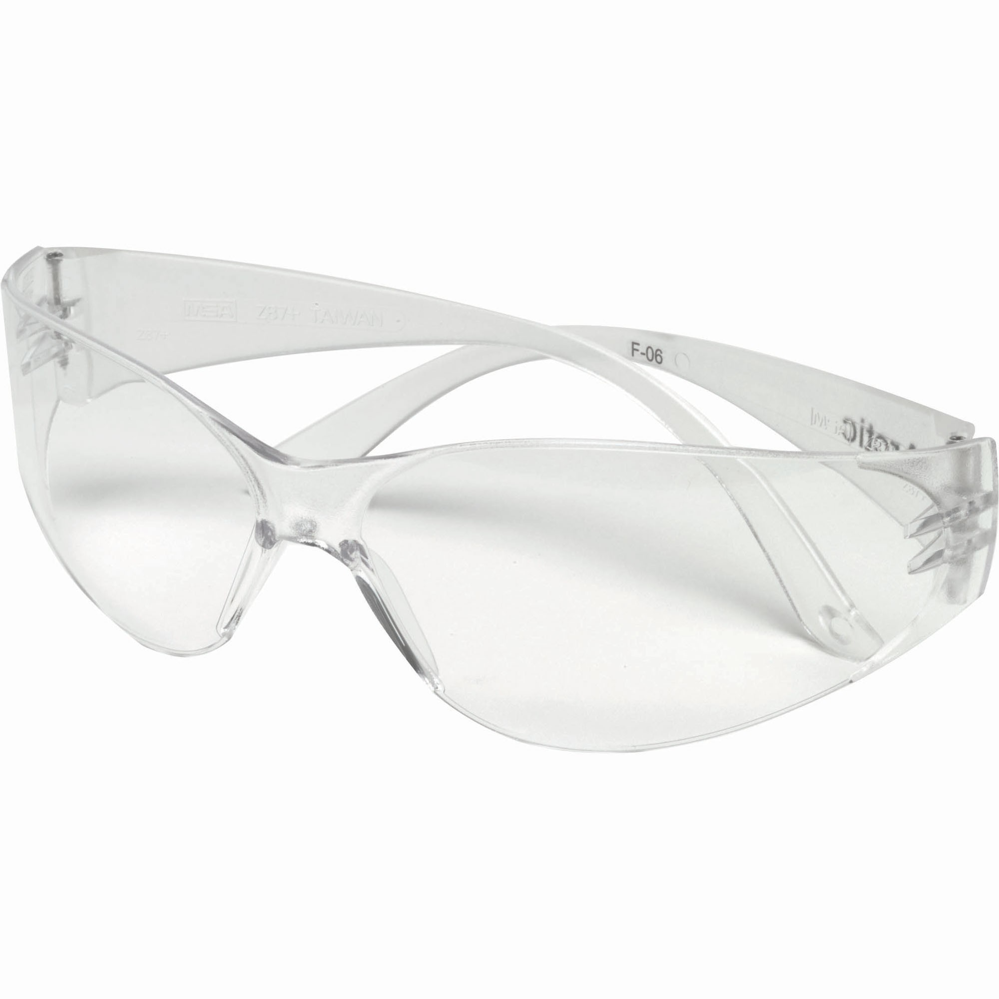 msa 697514 arctic safety glasses clear frame clear