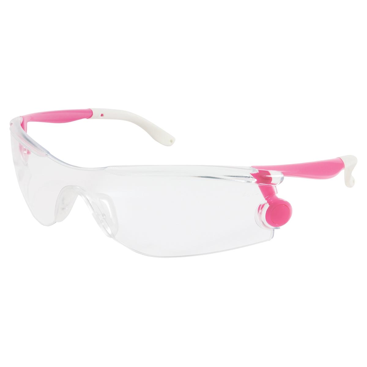 crews mantis safety glasses pink frame clear lens