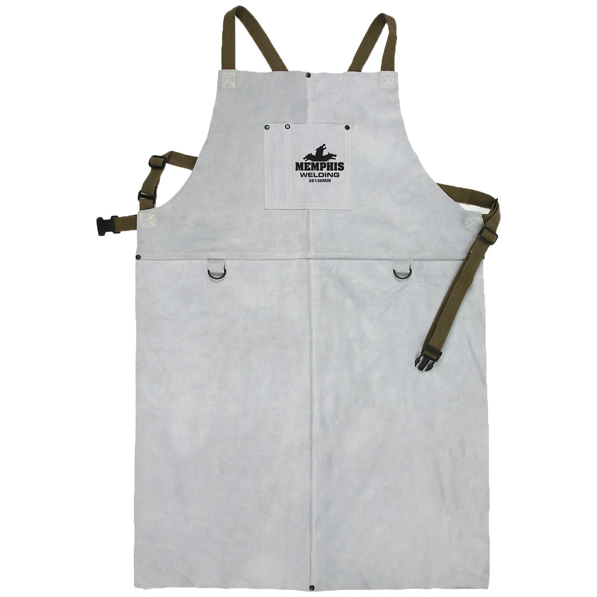 Memphis 38136mw Leather Welding Bib Apron 24 Quot X 36