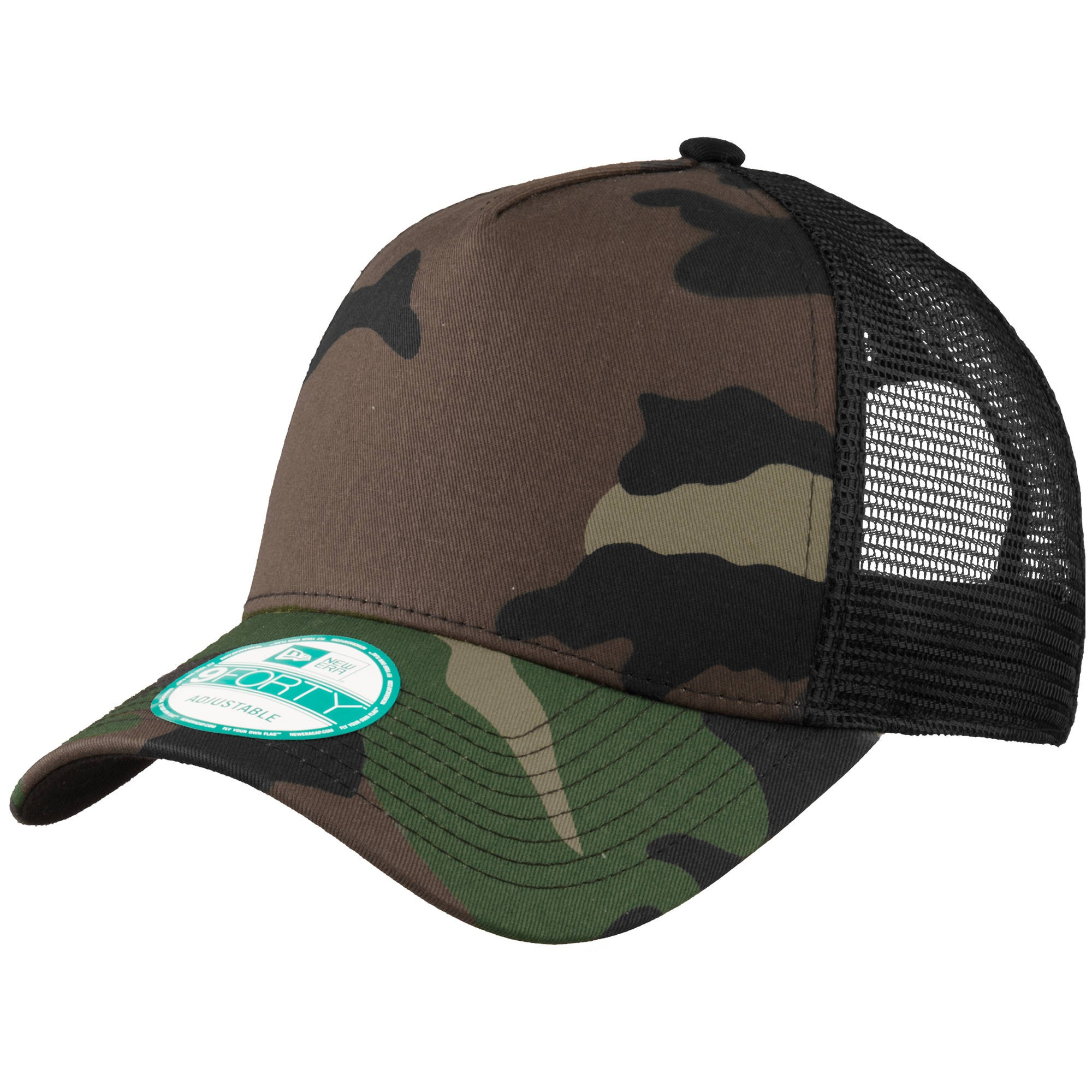 new era ne205 snapback trucker cap camo black. Black Bedroom Furniture Sets. Home Design Ideas