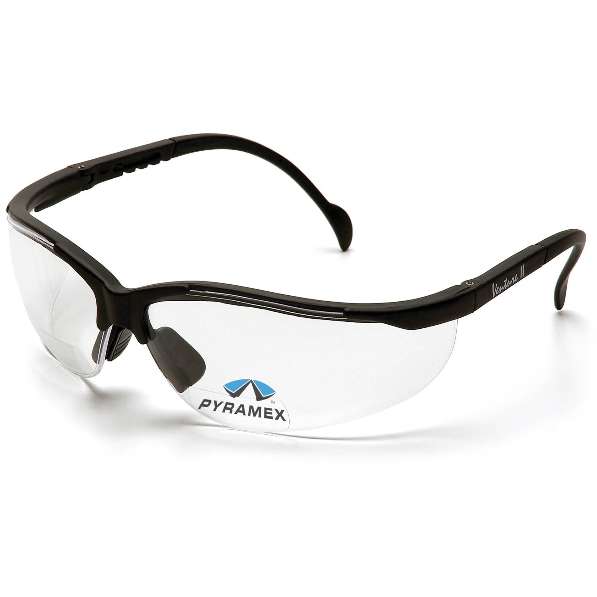 Eyeglass Frame Markings : Pyramex SB1810R Venture II Readers Safety Glasses - Black ...