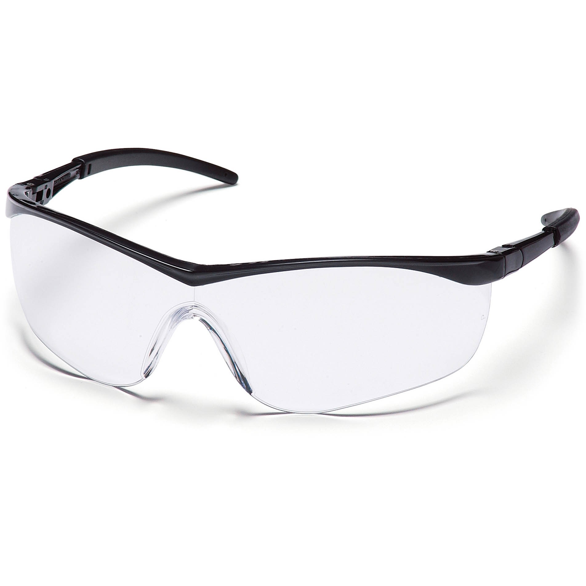 Black Frame Glasses Clear Lens : Pyramex Mayan Safety Glasses - Black Frame - Clear Lens ...