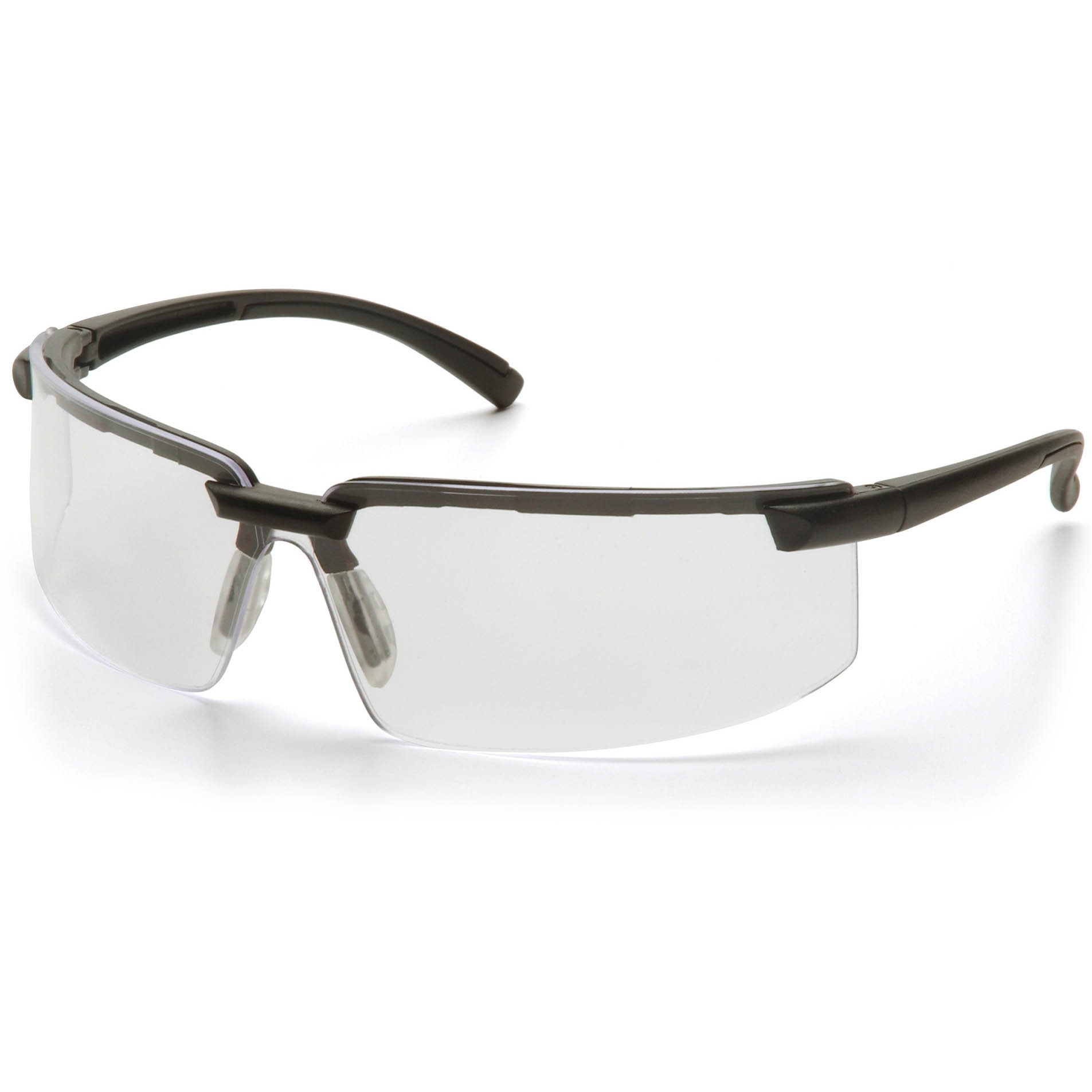 Black Frame Glasses With Clear Lenses : Pyramex Surveyor Safety Glasses - Black Frame - Clear Lens ...