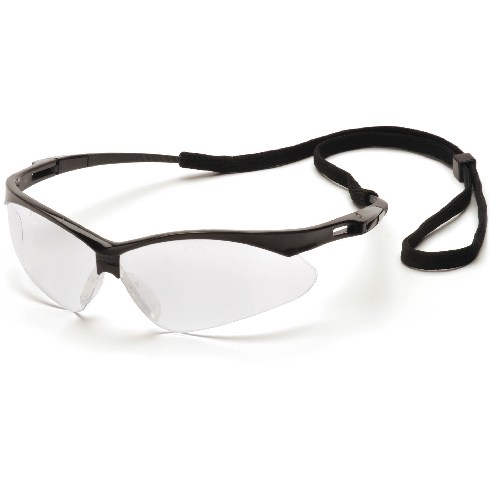 Black Frame Glasses With Clear Lenses : Pyramex PMXTREME Safety Glasses - Black Frame - Clear Lens ...