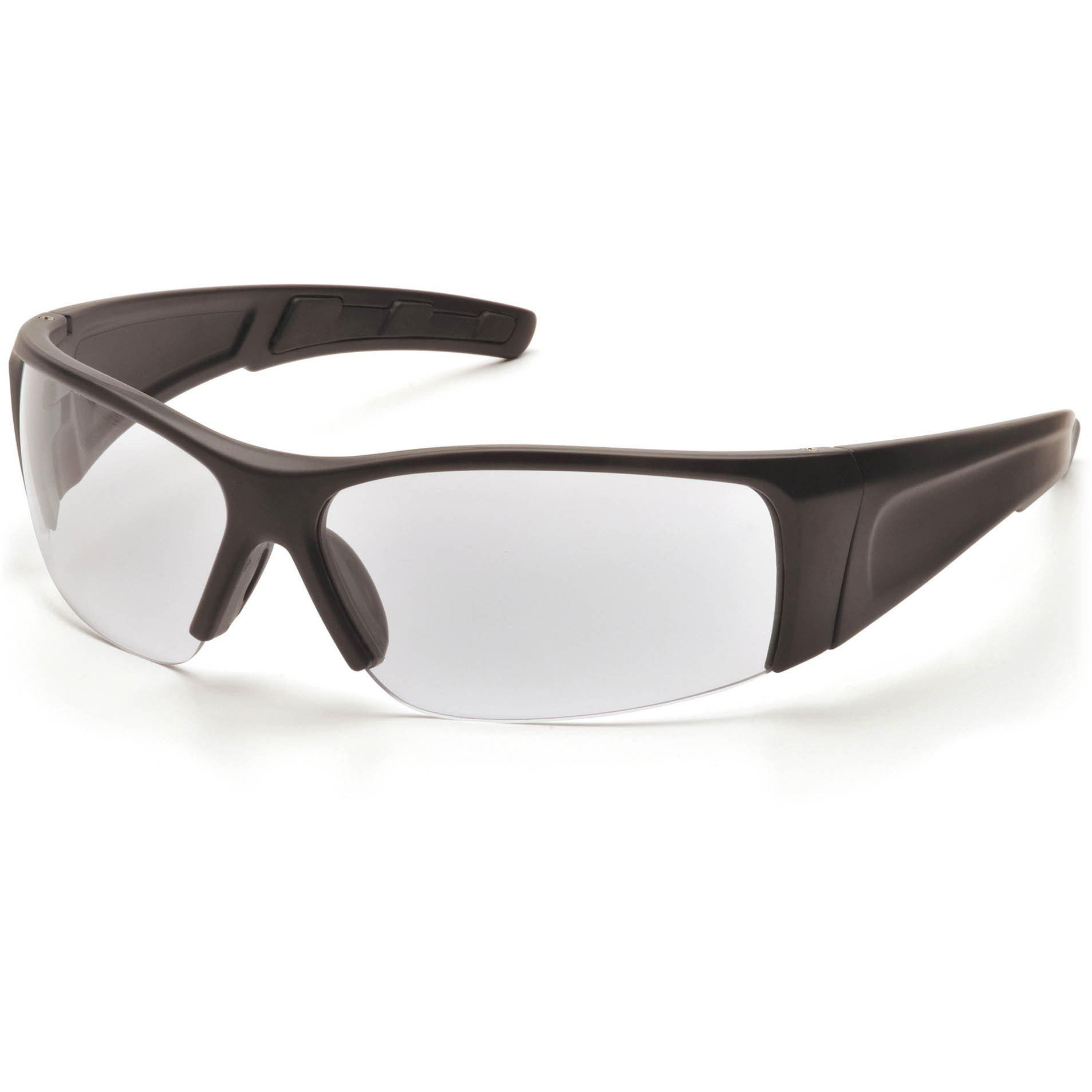 Black Frame Glasses With Clear Lenses : Pyramex PMXTORQ Safety Glasses - Black Frame - Clear Lens ...