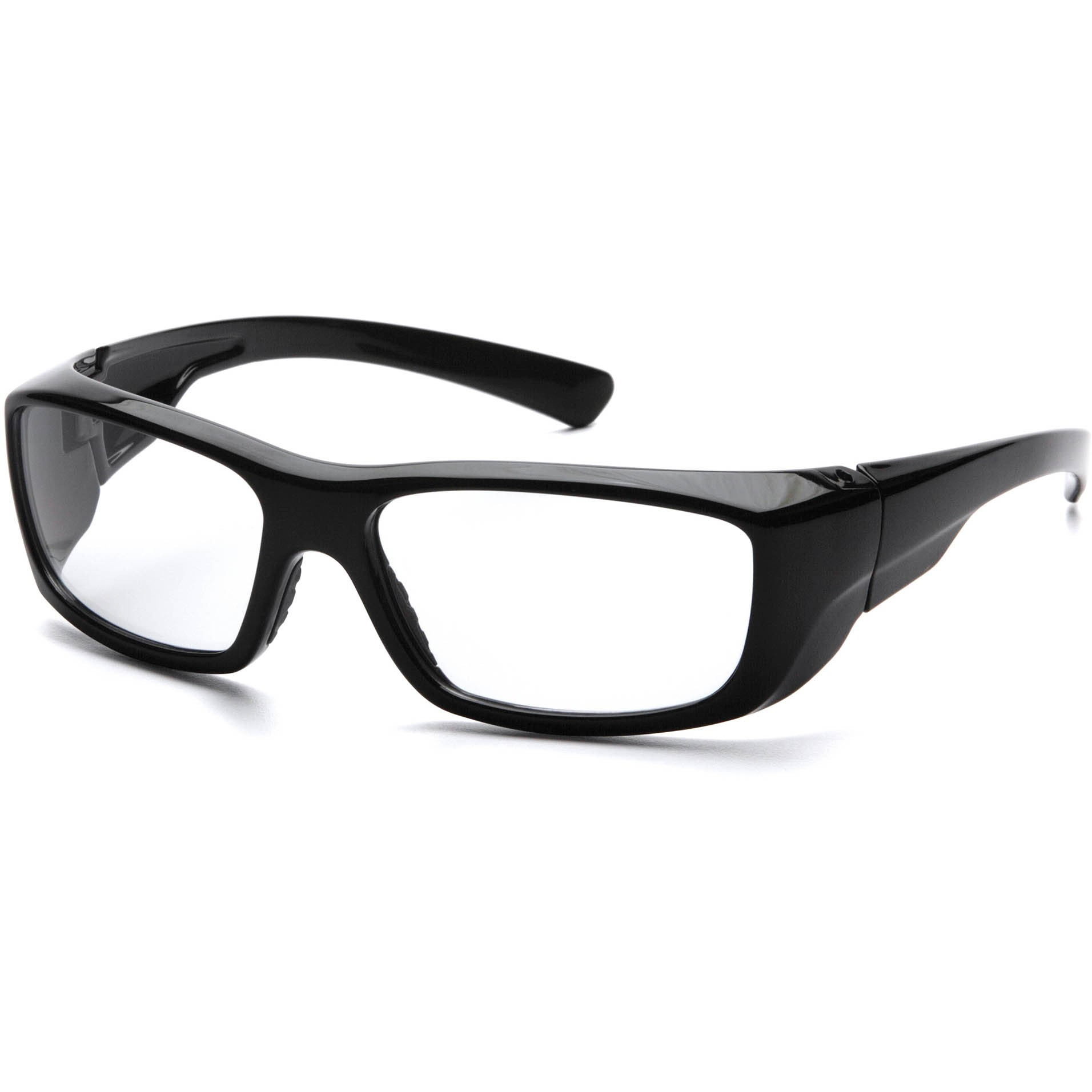 Black Frame Glasses Clear Lens : Pyramex Emerge Safety Glasses - Black Frame - Clear Full ...