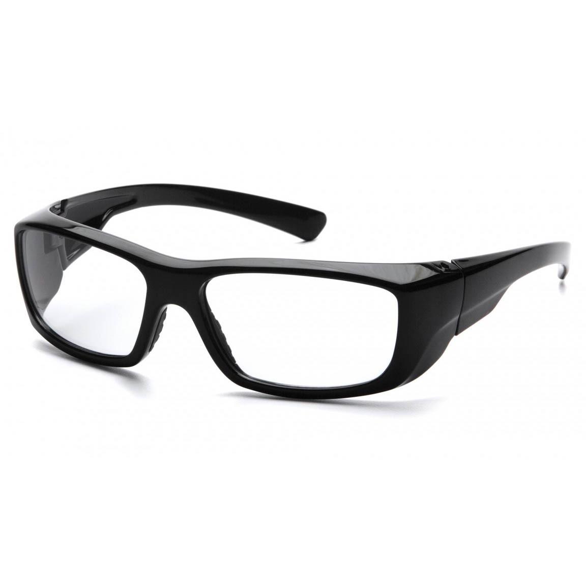Large Frame Prescription Safety Glasses : Pyramex Emerge Safety Glasses - Black Frame - Clear RX ...