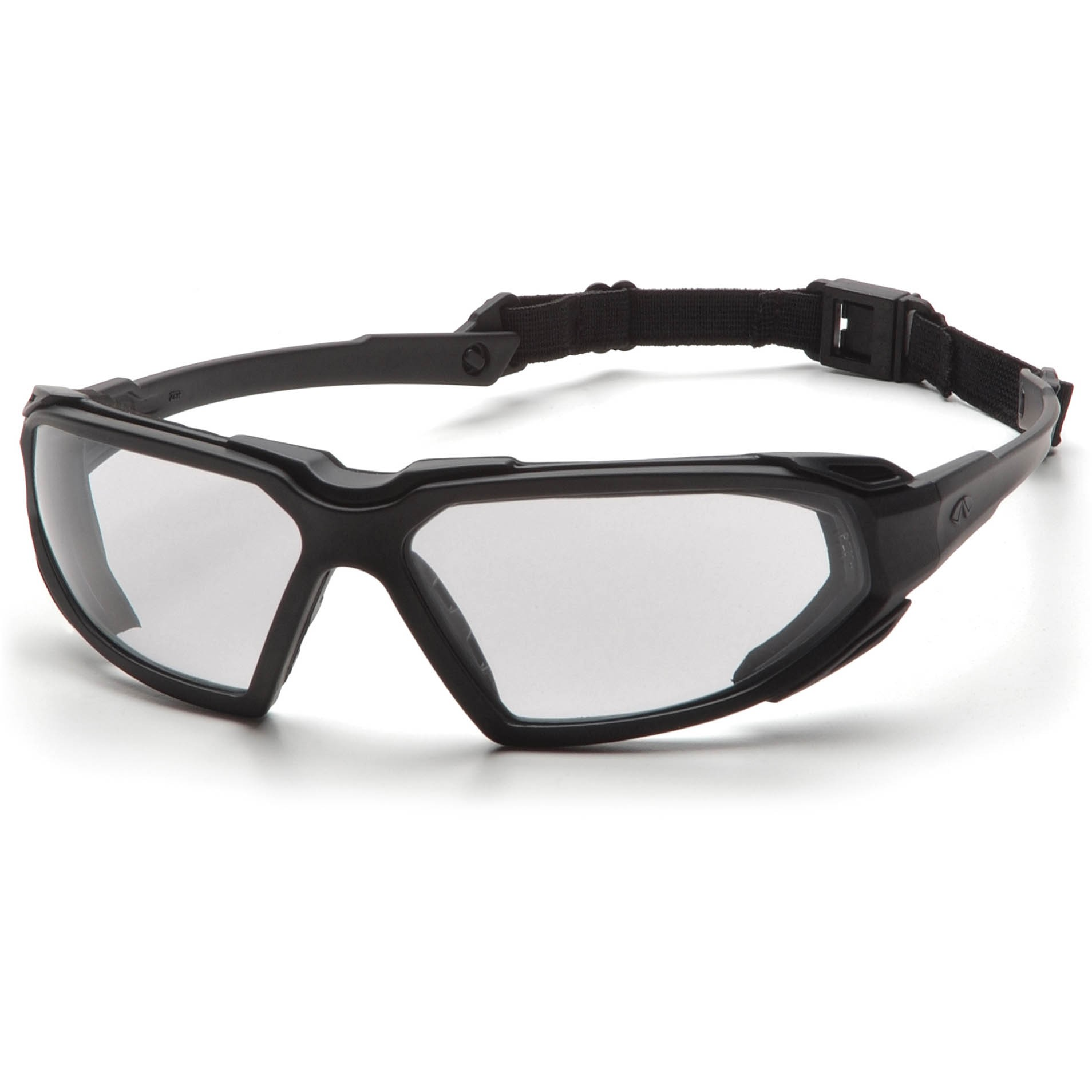 Black Frame Safety Glasses : Pyramex Highlander Safety Glasses - Black Frame - Clear ...