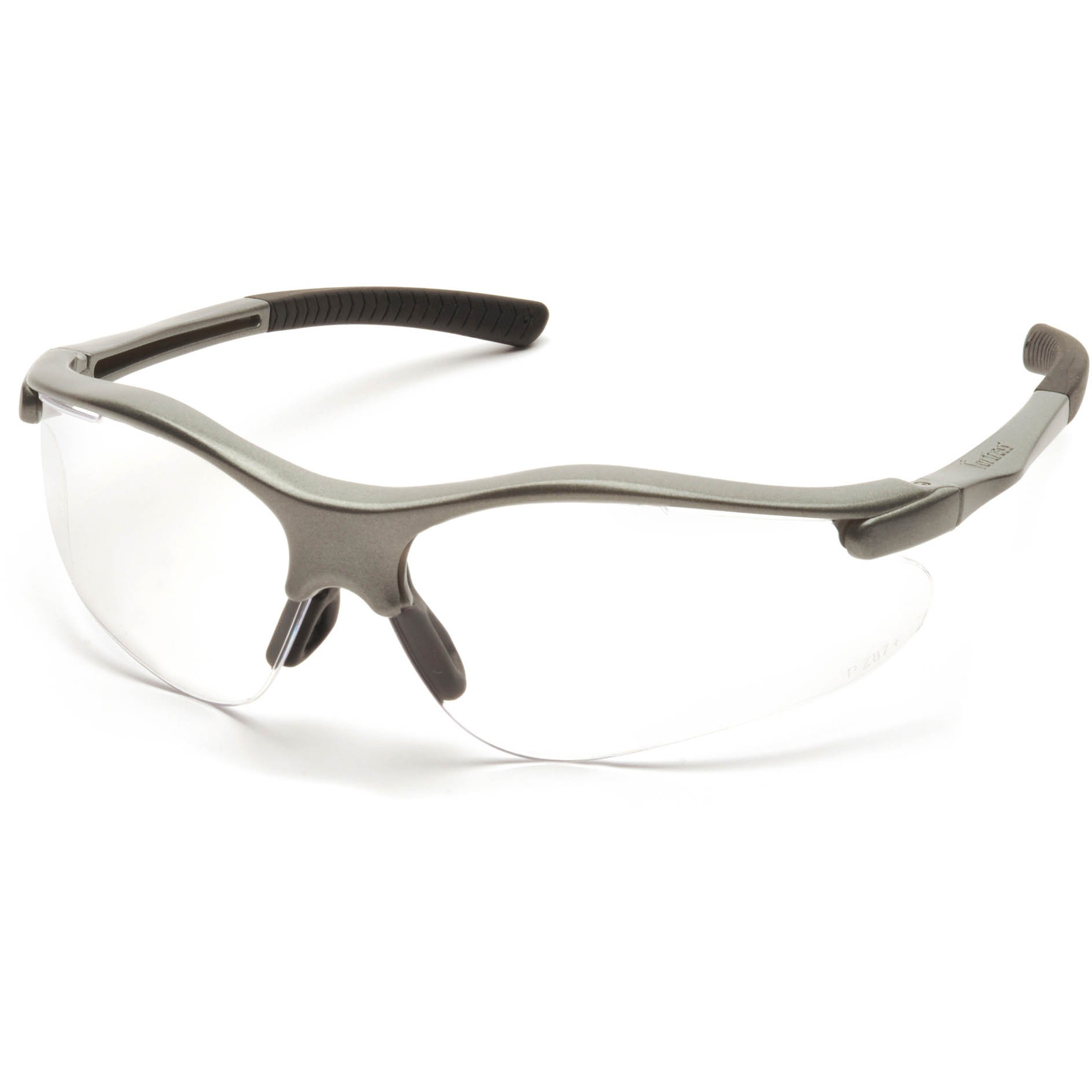Glasses Gray Frame : Pyramex Fortress Safety Glasses - Gray Frame - Clear Lens ...