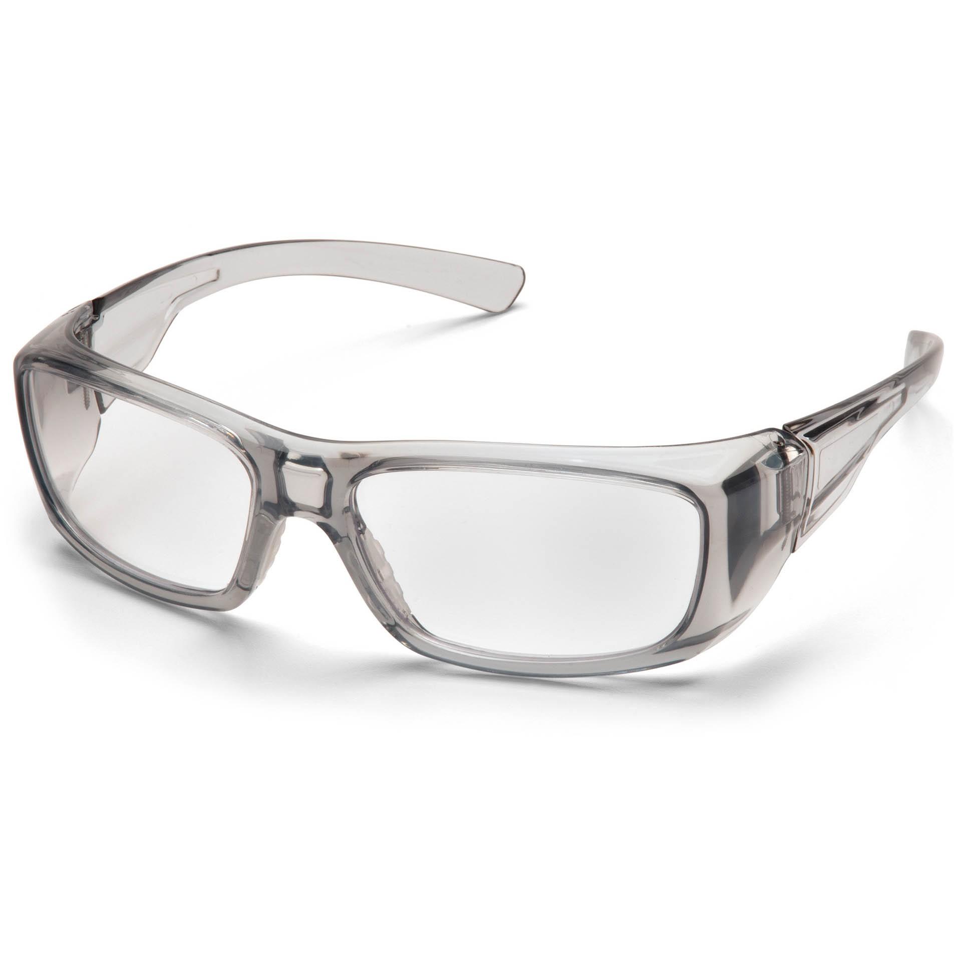 Glasses Gray Frame : Pyramex Emerge Safety Glasses - Gray Frame - Clear Full ...