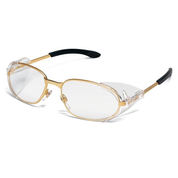 4e8078f146ac Crews RT2 Safety Glasses - Brass Frame - Clear Lens