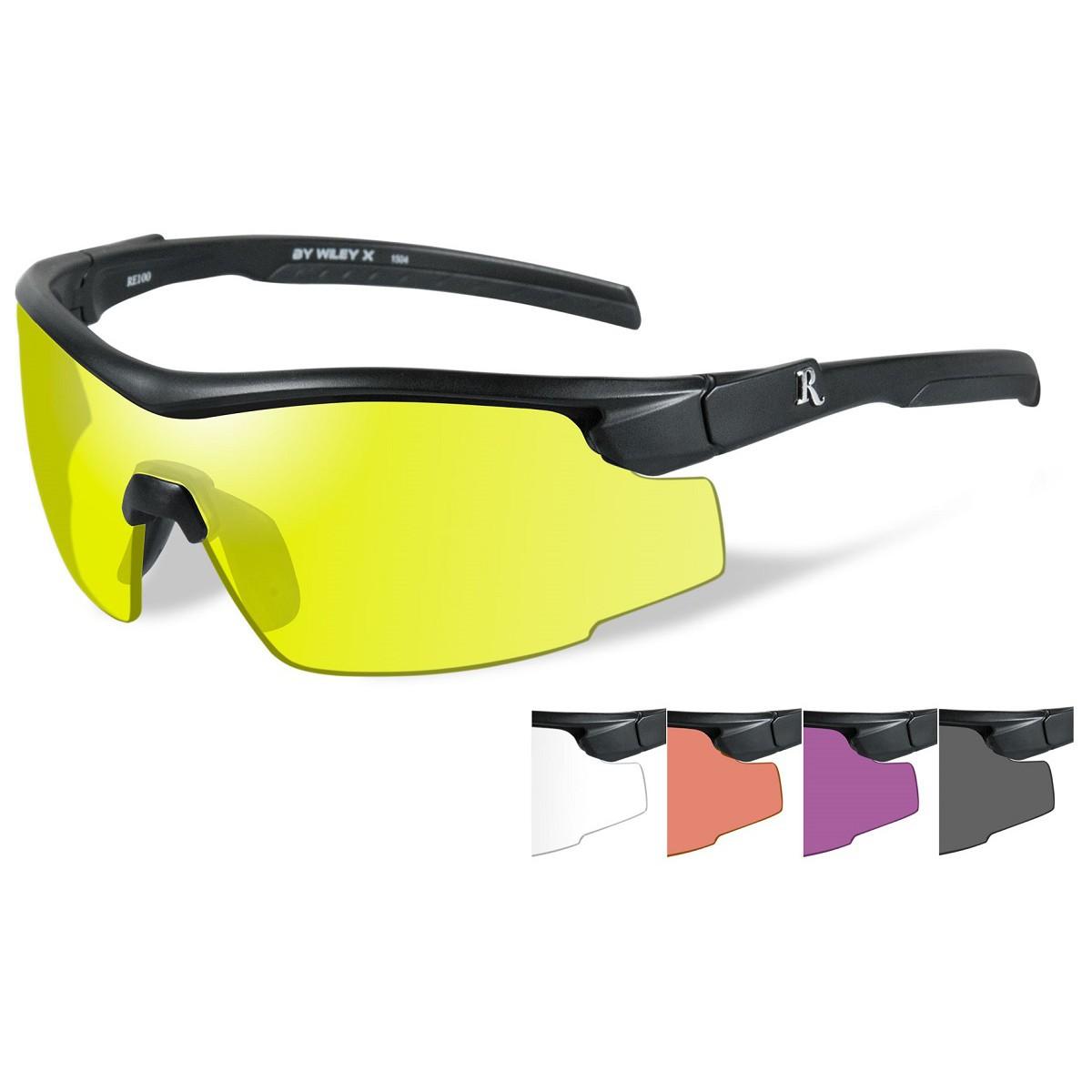 Eyeglass Frames With Interchangeable Lenses : Remington RE105 Shooting Glasses Kit - Black Frame - Five ...