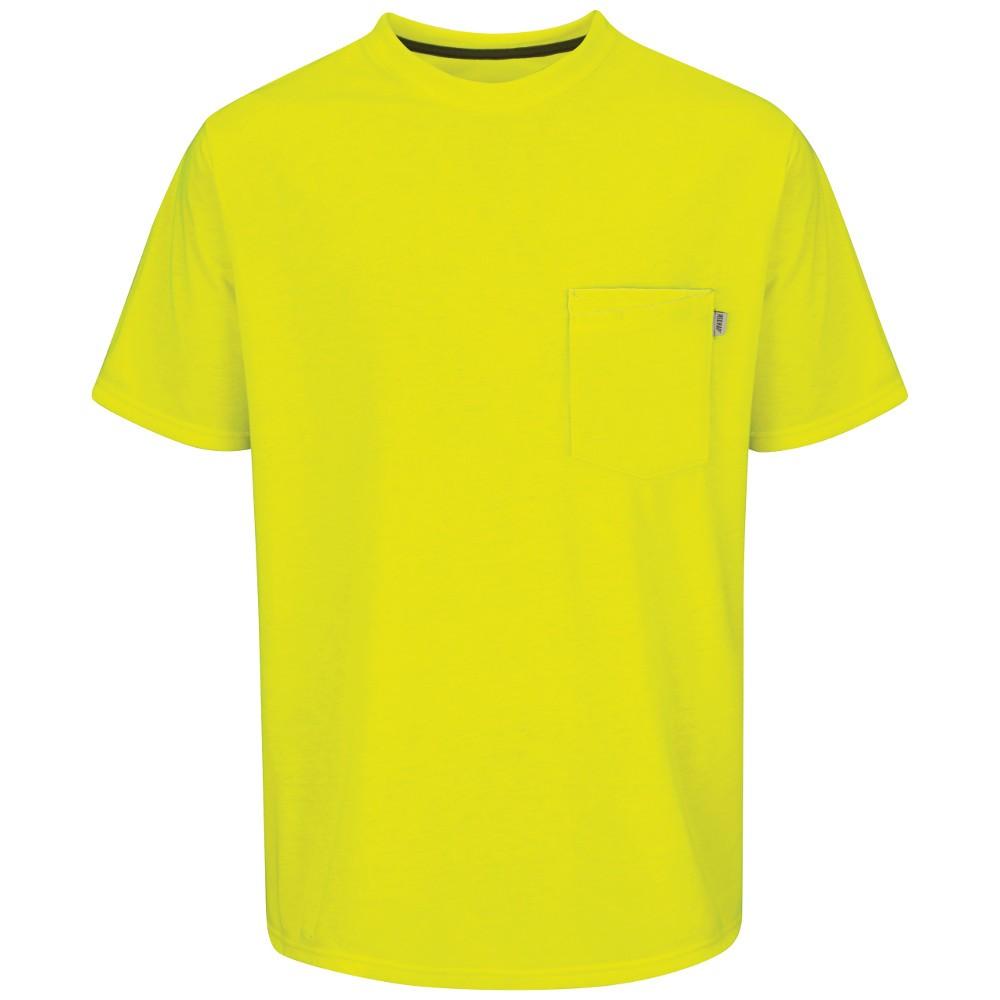 Red kap rt32sy high visibility work t shirt safety for High visibility safety t shirts