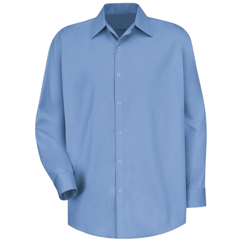 Red kap sc16 men 39 s specialized cotton work shirt long for Blue cotton work shirts