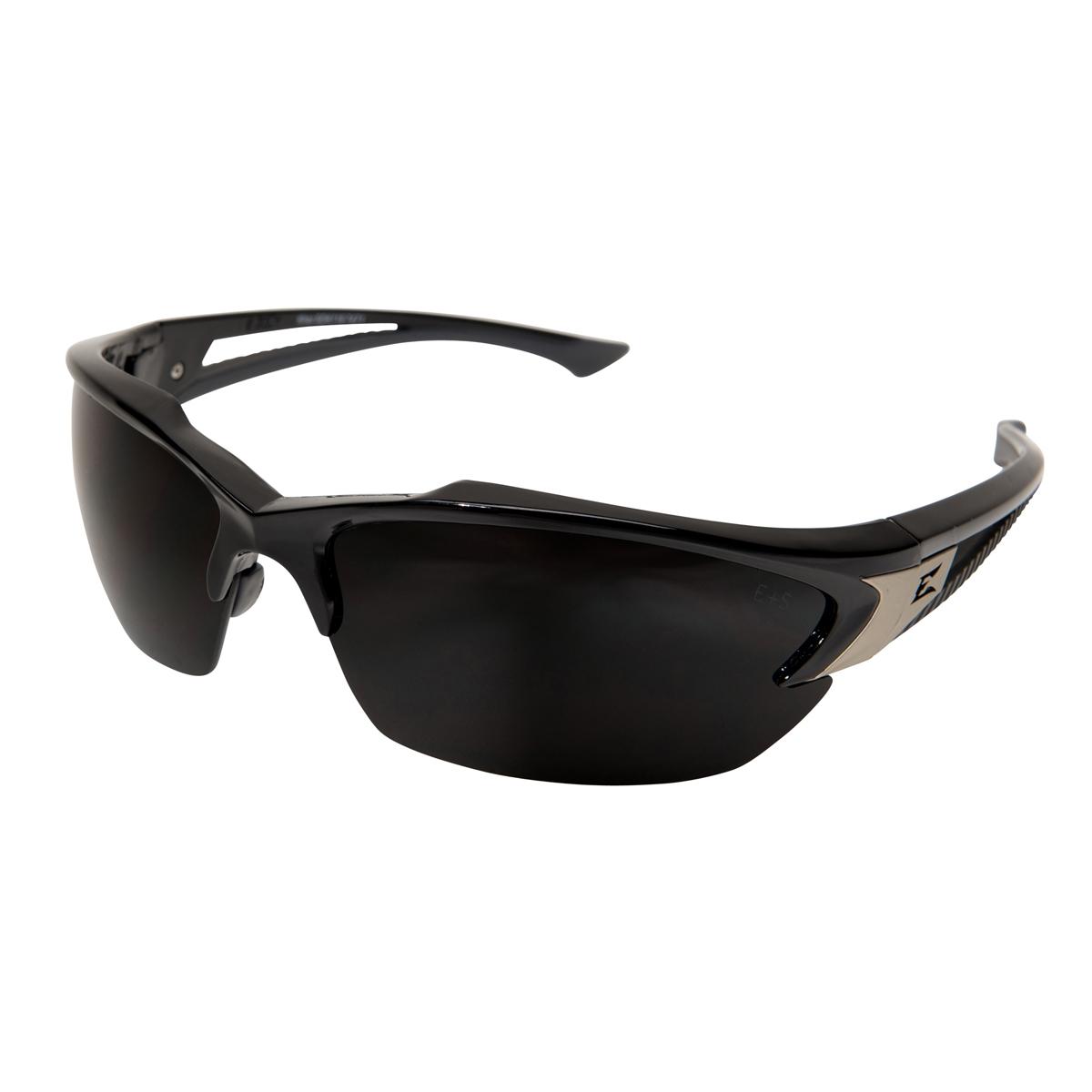 Straight Temple Glasses Frame : Edge SDK116 Khor Safety Glasses - Black Frame - Smoke Lens ...