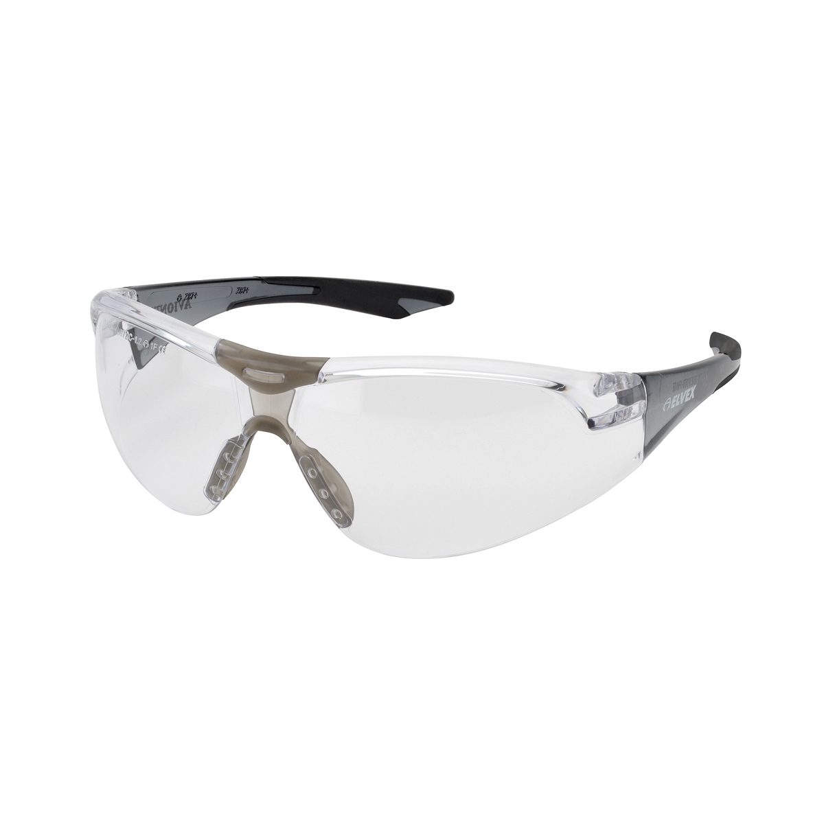 Black Frame Glasses Singapore : Elvex SG-18C-AF-Slim-BLK Avion Safety Glasses - Black ...