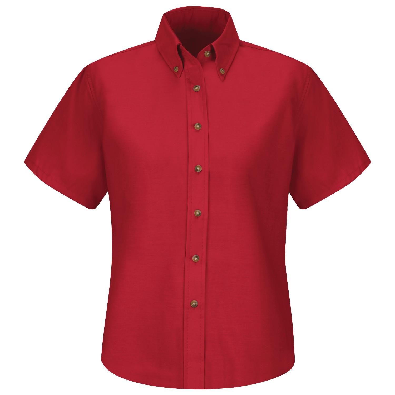 Red kap sp81 women 39 s poplin dress shirt short sleeve for What is a poplin shirt