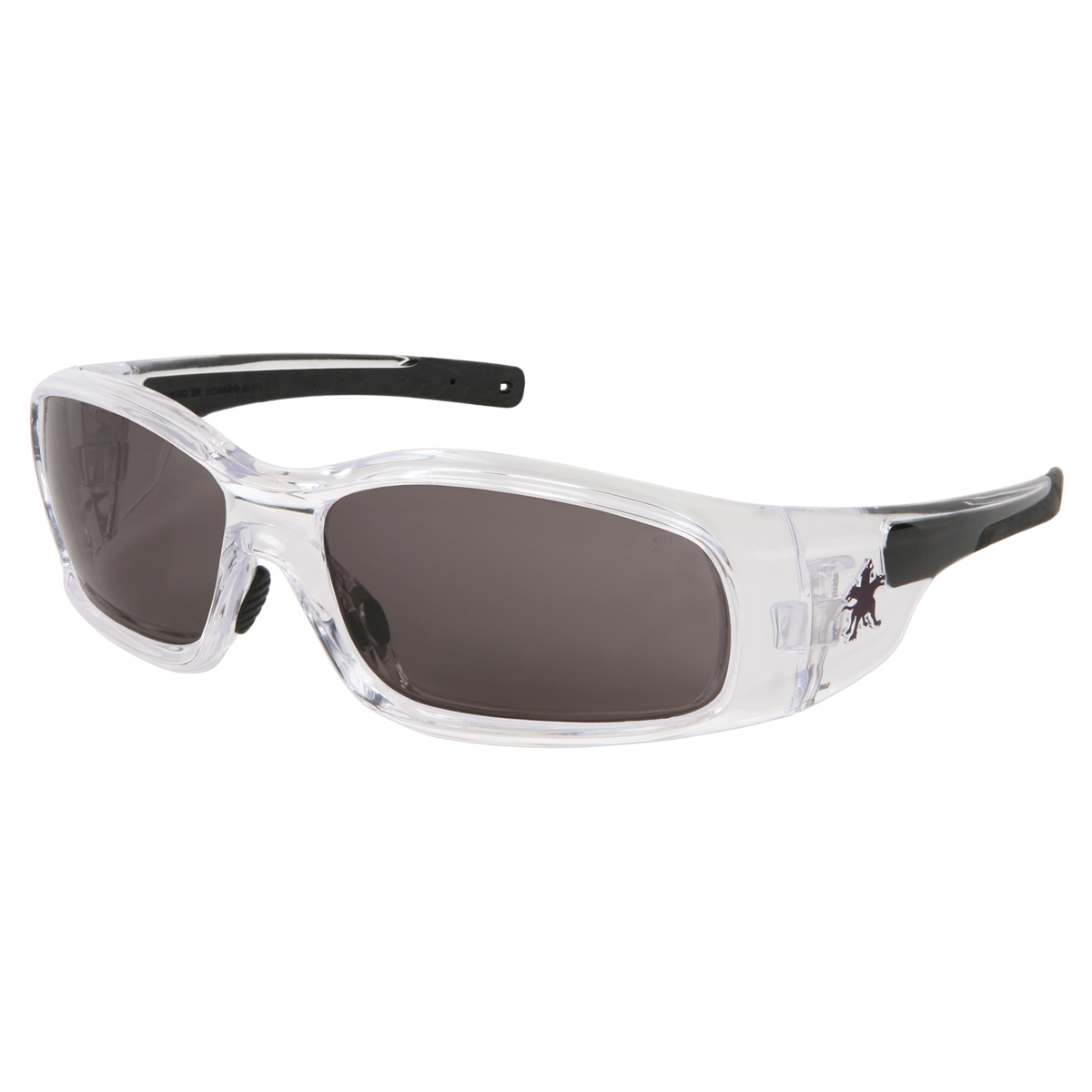 Crews Swagger Safety Glasses - Clear Frame - Gray Anti-Fog ...