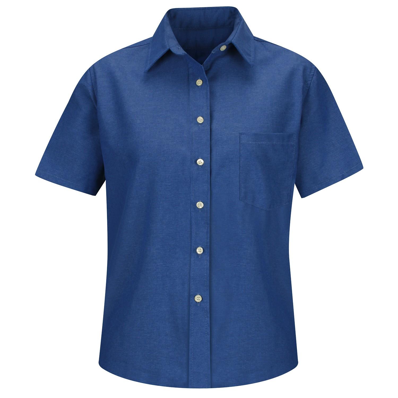 Red Kap Sr65fb Women 39 S Oxford Dress Shirt Short Sleeve