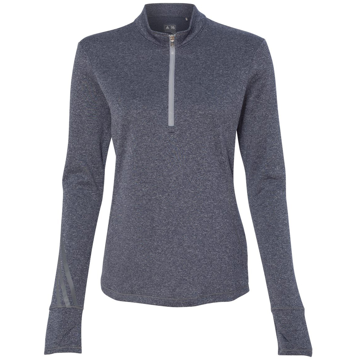adidas A275 Golf Women's Brushed Terry Heather Quarter-Zip ...