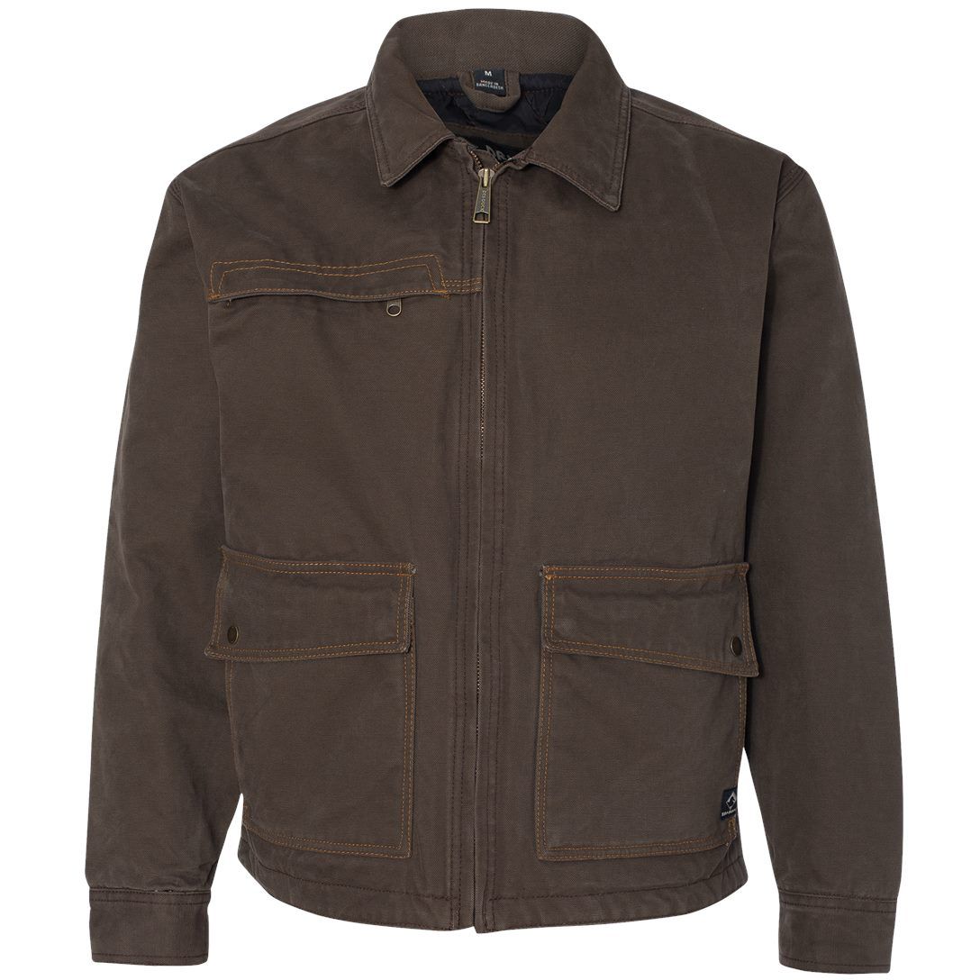 Dri duck 5069 boulder cloth canvas flint jacket tobacco for Color tabacco mobili