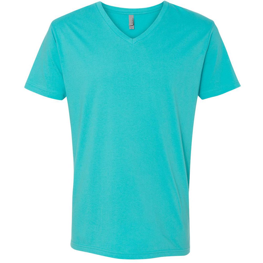 Next level 3200 premium short sleeve v tahiti blue for T shirt design v neck
