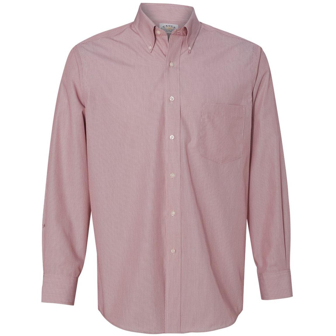 Van heusen 13v0420 non iron featherstripe shirt red for Van heusen iron free shirts