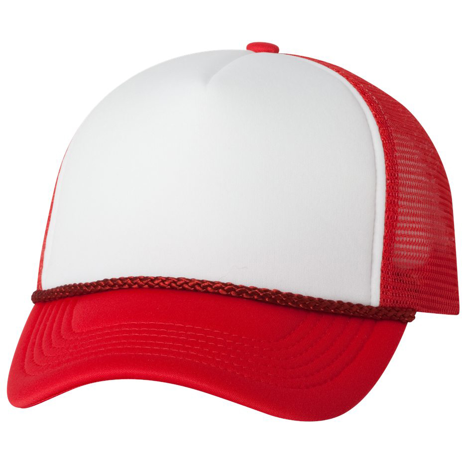Valucap VC700 Foam Trucker Cap - White/Red | FullSource.com