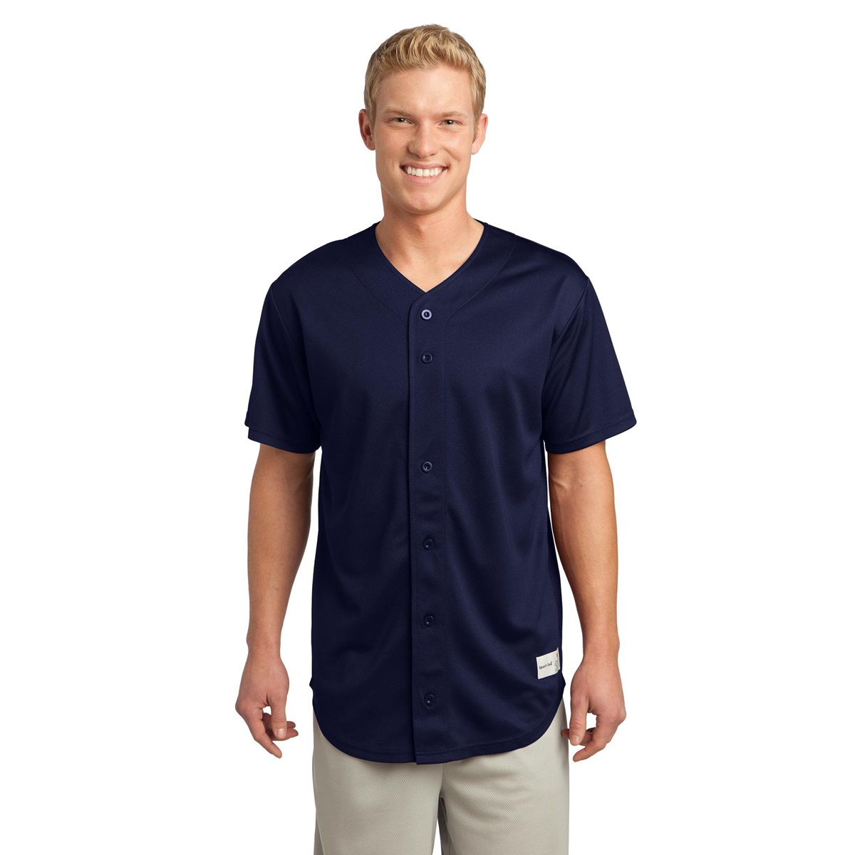 Sport Tek St220 Posicharge Tough Mesh Full Button Jersey T