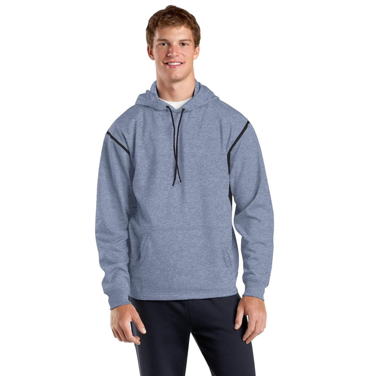Sport-Tek TST246 Tall Tech Fleece Hooded Sweatshirt - Grey ...