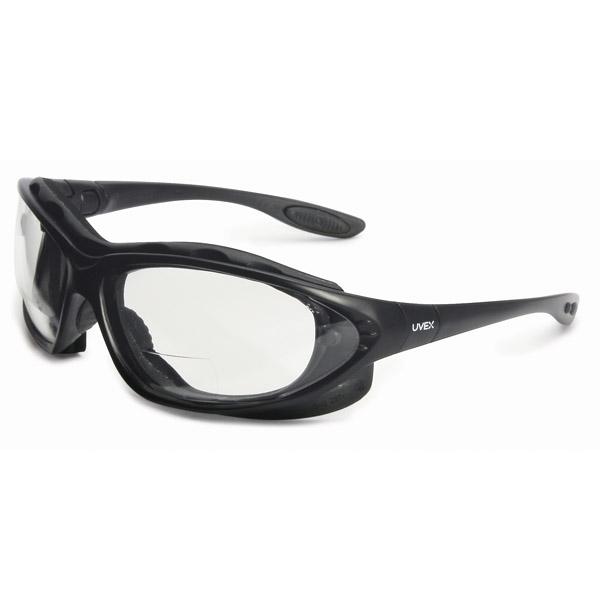 a7d0e1db43 Uvex Seismic Reading Safety Glasses - Black Frame - Clear Anti-Fog Lens