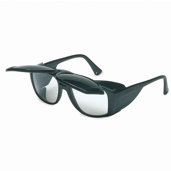 Glasses Frame Flip Up : Uvex Horizon Safety Glasses - Black Frame - Cobalt Flip-Up ...