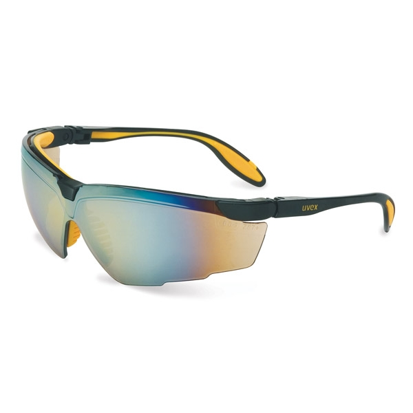 Uvex Genesis X2 Safety Glasses - Black/Yellow Frame - Gold ...
