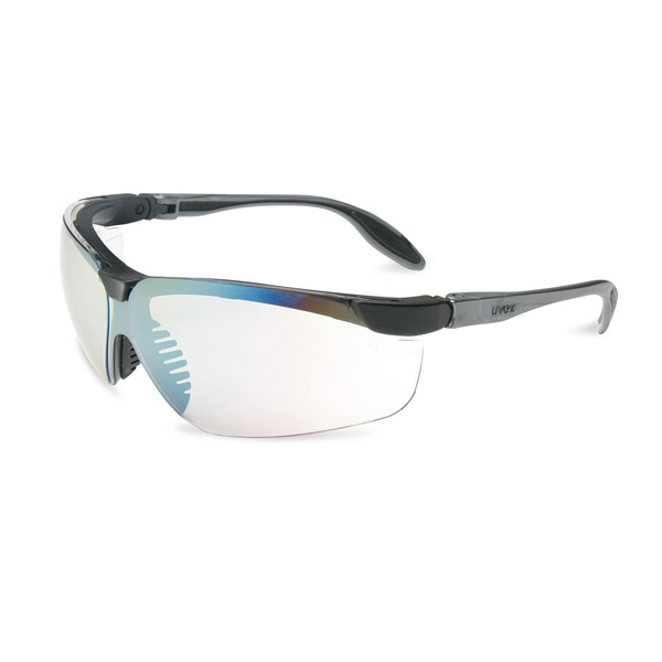 Black Frame Glasses Clear Lens : Uvex Genesis S Safety Glasses - Black Frame - Clear Lens ...