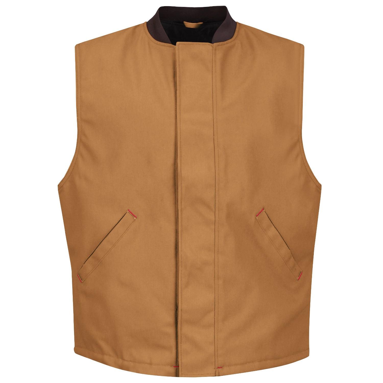 Red Kap Vd22 Men S Blended Duck Insulated Vest Brown
